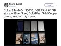 Nokia 8 Meluncur Akhir Juli, Harganya?