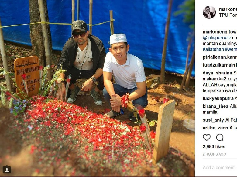 Mawar Merah dan Janji Gaston Castano di Depan Pusara Jupe