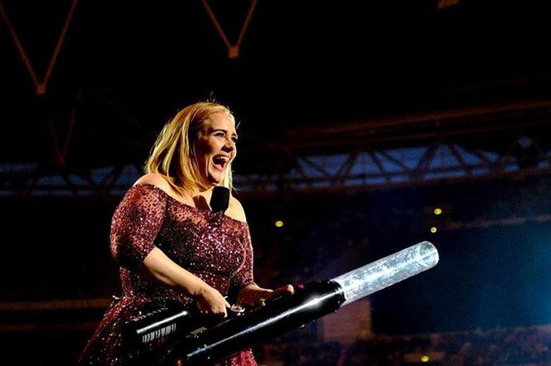 Adele terakhir kali menggelar konser di London, Inggris pada akhir bulan lalu. Foto: Instagram Adele