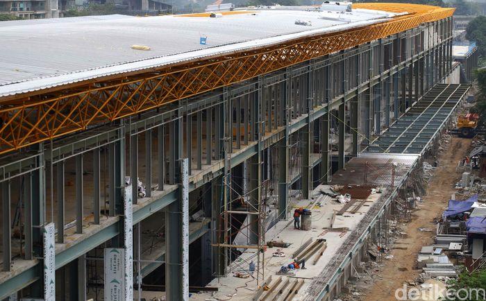 Pembangunan Stasiun Sudirman Baru terus dikebut.
