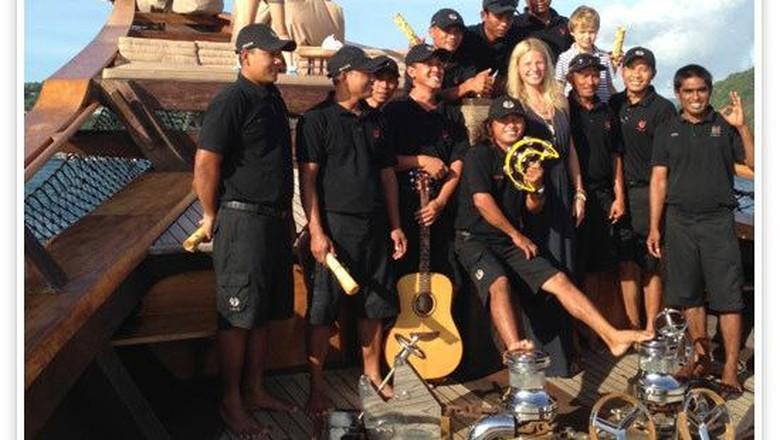 Foto:Gwyneth Paltrow liburan di Pulau Komodo (goop.com)