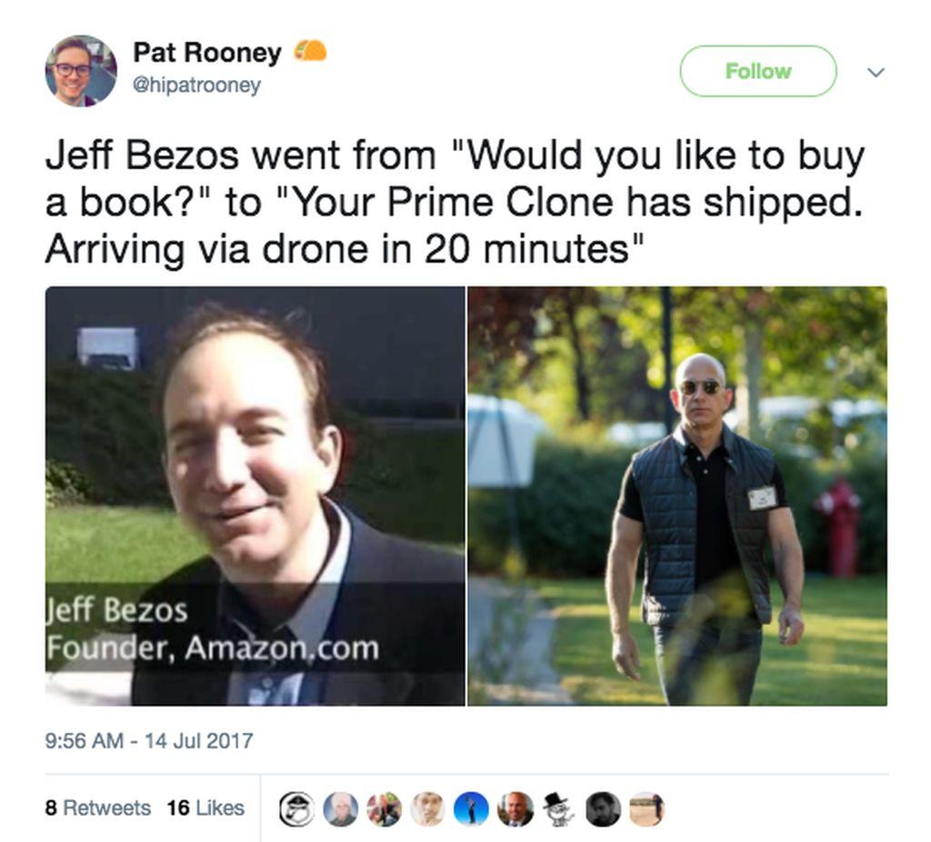 Penampilan Terbaru Bezos Di Sebelah Kanan Sangat Jauh Dari Dirinya Yang Dulu Ketika Amazon Baru