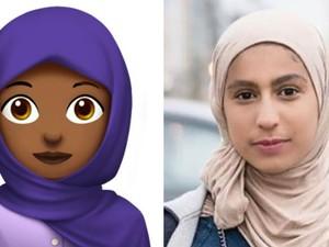 Sosok Wanita Cantik di Balik Emoji Hijab Apple