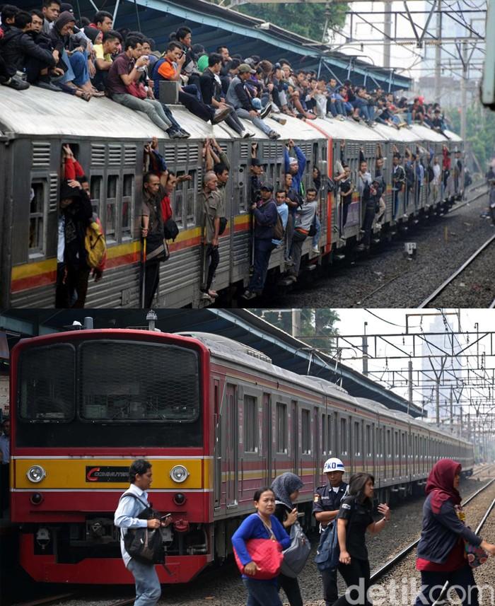 KRL atau kepanjangan dari Kereta Rel Listrik memang menjadi transportasi favorit warga Jabodetabek untuk bepergian. Selain harganya yang murah, menggunakan KRL juga bisa lebih cepat sampai tujuan. Bisa dikatakan KRL Commuter Line menjadi solusi warga Jakarta untuk menghindari kemacetan. Dengan kondisi KRL yang nyaman serta bersih seperti sekarang, membuat orang berbondong-bondong pulang-pergi menggunakan KRL. Berikut perbedaan KRL dulu dan sekaran.