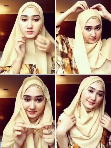 Tutorial hijab segi empat Dian Pelangi.