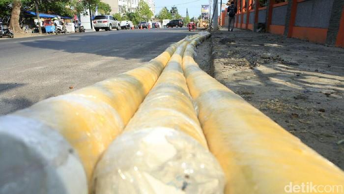 Pengerjaan pipa gas PGN di Bandar Lampung-Lampung