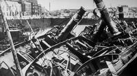 Dunkirk menjadi sebuah kisah pilu pada perang dunia ke II dimana pihak Jerman meluluhlantakan kota Dunkirk. Keystone/Getty Images/detikFoto.