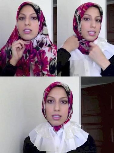 Tutorial hijab segitiga.