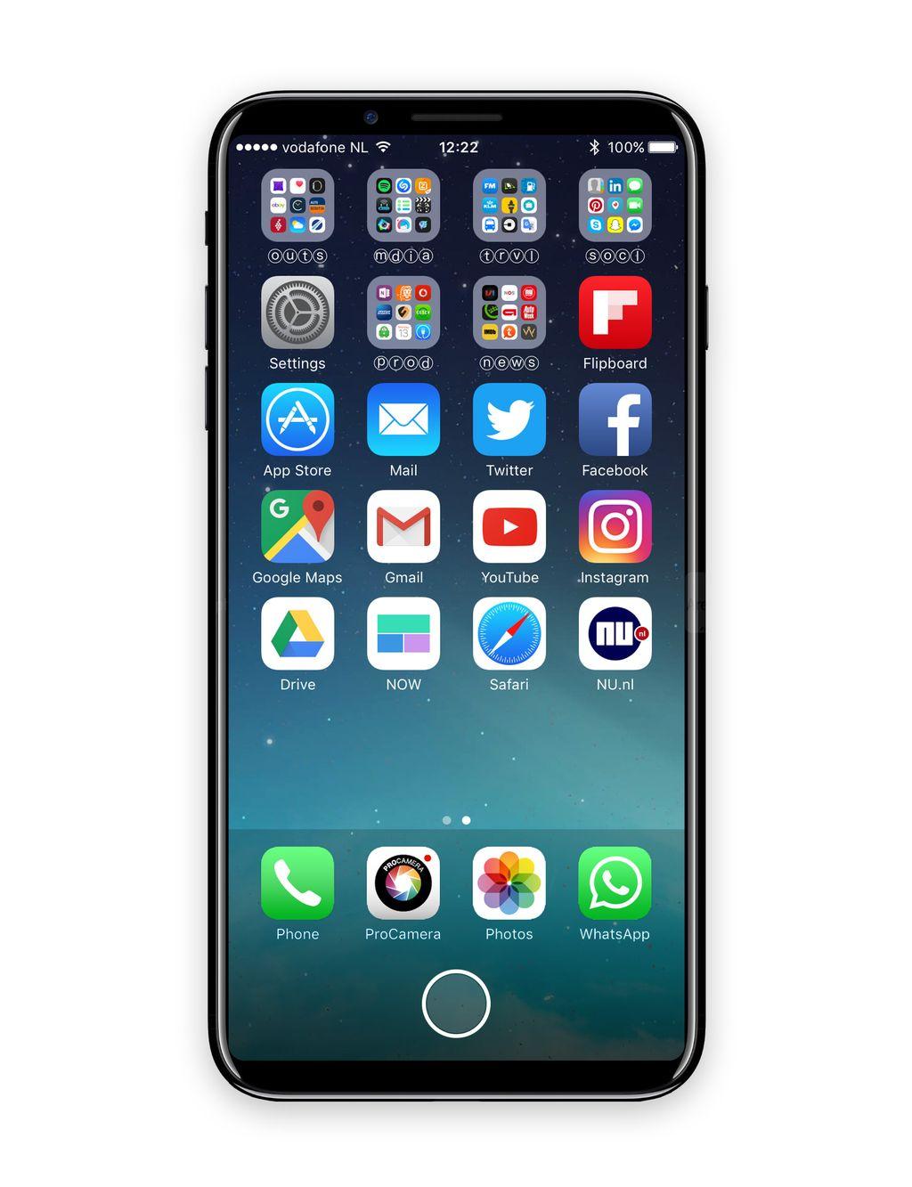 Ini adalah konsep iPhone 8 kreasi desainer bernama Deuxani berdasarkan rumor yang beredar. Foto: istimewa