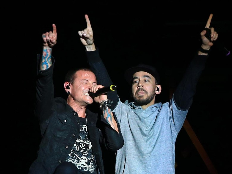 Foto: Chester Bennington dan Mike Shinoda (Gettyimages)
