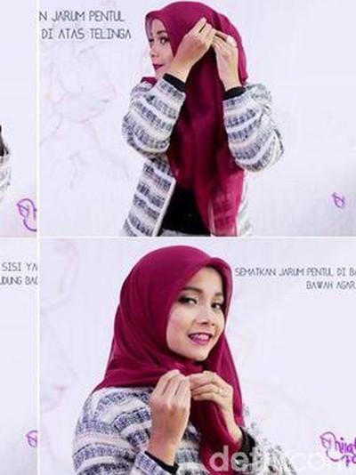 Tutorial hijab segitiga. Foto: Dok. YouTube