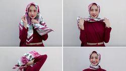 10 Kreasi Tutorial Hijab Segitiga untuk Sehari-hari