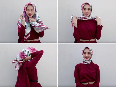 Tutorial Hijab Segi Empat Yang Simple Untuk Lebaran