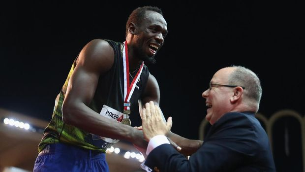 Usain Bolt juara 100 meter Diamond League di Monako.