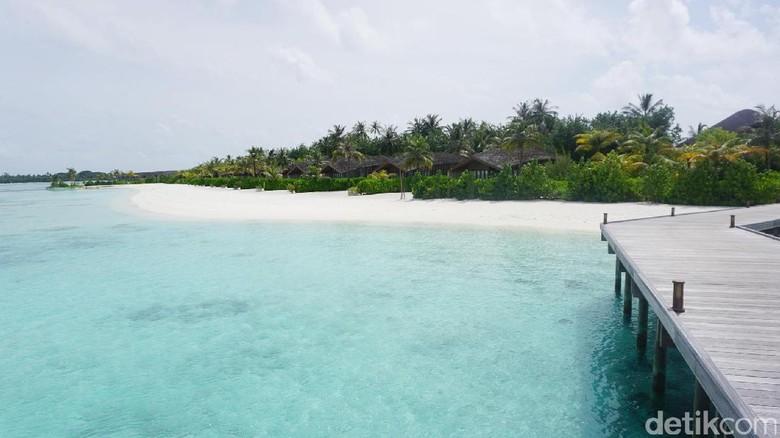 Foto: Pantai di Maldives yang bersih nan cantik (Afif/detikTravel)