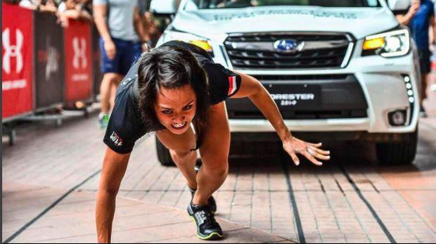 Dalam sebuah kontes kebugaran, Jemima sanggup menarik mobil seberat 1,5 ton dengan tenaganya sendiri. Tak heran jika ia dijuluki perempuan 'paling bugar' se-Indonesia