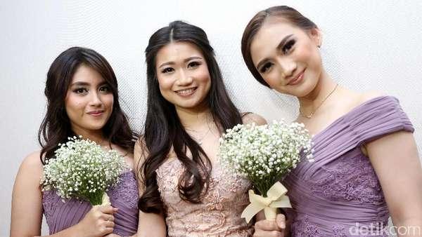 Cantiknya Nabilah , Melody JKT48, dan Sonya di Pernikahan Fendy Chow dan Stella