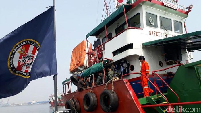 Foto: Kapal tanker yang ditangkap Bakamla di Teluk Jakarta. (Dokumen Humas Bakamla RI)