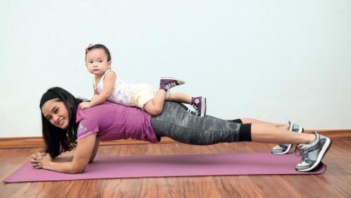 olahraga bersama anak