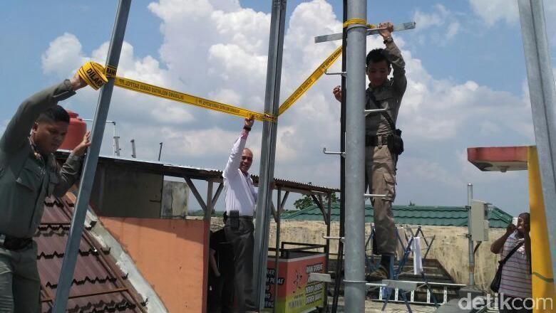 Satpol PP Pekanbaru Segel 3 Tower Tanpa Izin