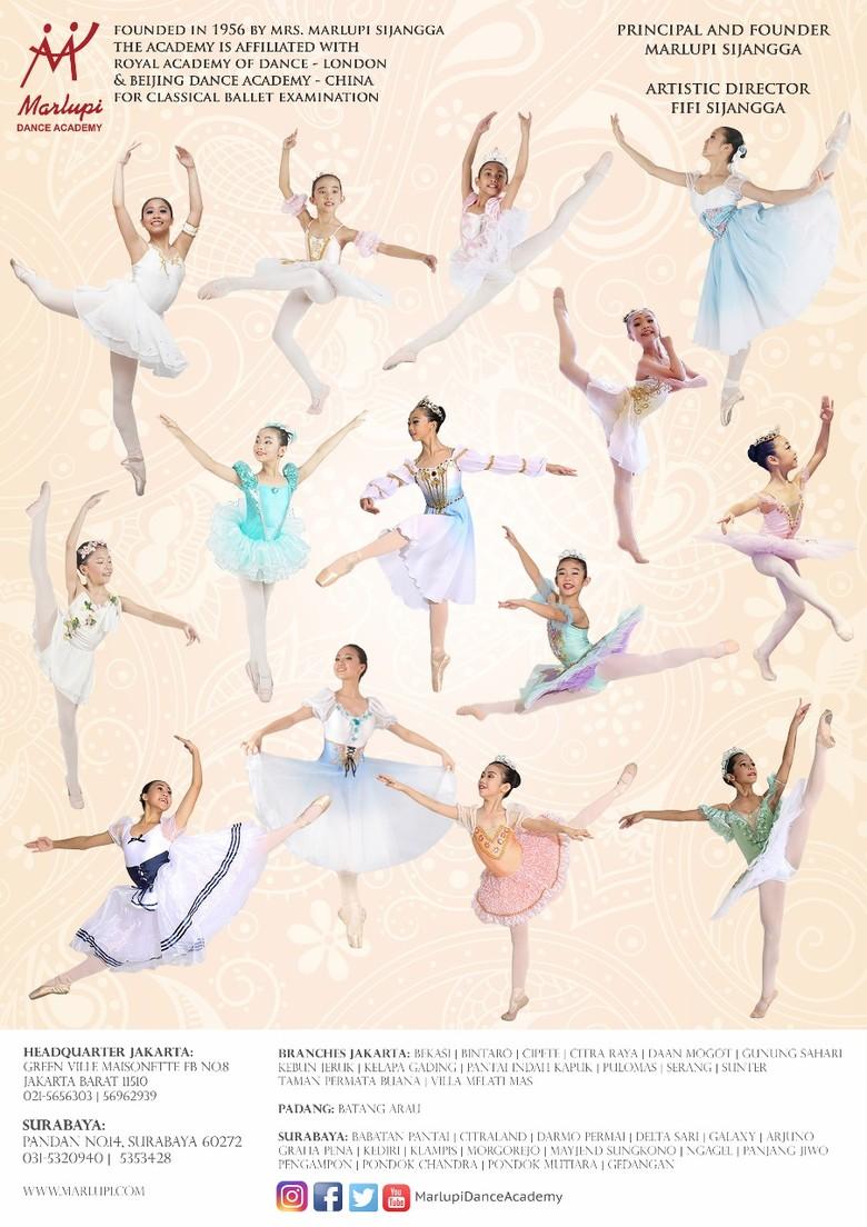28 Balerina Marlupi Dance Academy akan Bertanding ke Hong Kong Foto: Marlupi Dance Academy