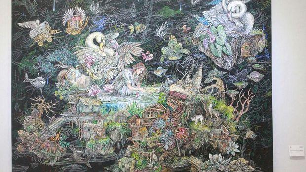 Galih Reza Suseno, Seniman Pendatang Baru di Antara Ribuan Pelukis Yogyakarta