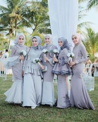 model baju bridesmaid hijab terbaru tutorial hijab terbaru