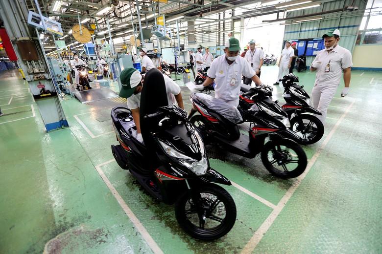 Perakitan Motor Honda di Sunter. Foto: Pool/AHM