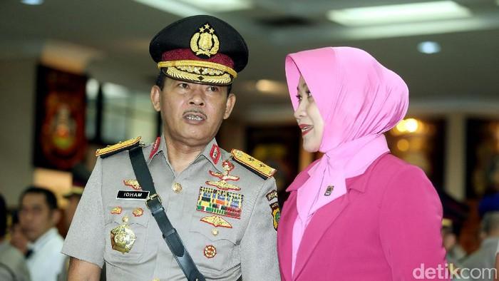 Irjen Idham Azis resmi dilantik menjadi Kapolda Metro Jaya. (Rengga Sencaya/detikcom)