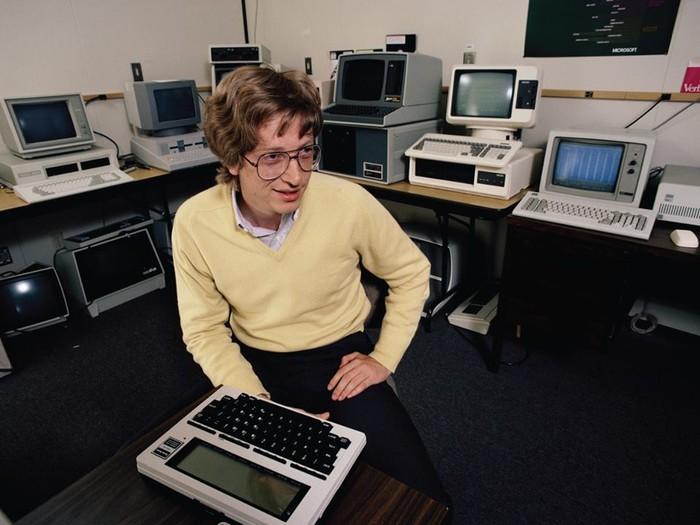 Bill Gates kala muda. Foto: Facebook