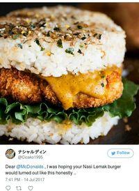 Seperti Apa Ya Rasanya Burger 'Nasi Lemak' dari Singapura?