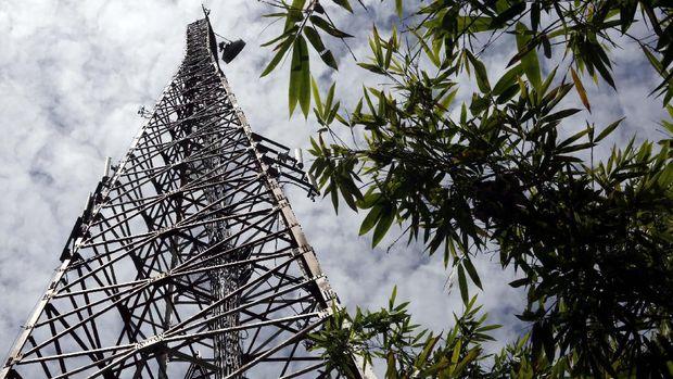 BTS Telkomsel di Entikong.