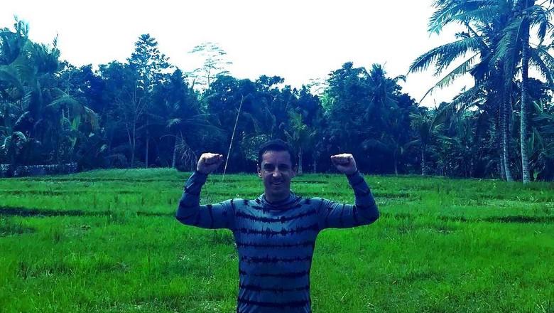 Gary Neville asyik liburan di kawasan Ubud, Bali (Instagram/@gneville2)