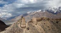 Pemukiman di Bulunkul, Pegunungan Pamir.