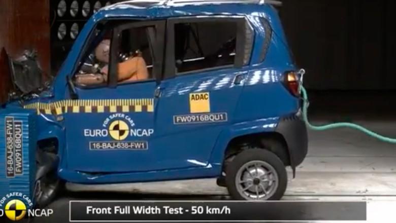 Bajaj Qute Foto: Euro NCAP/Youtube