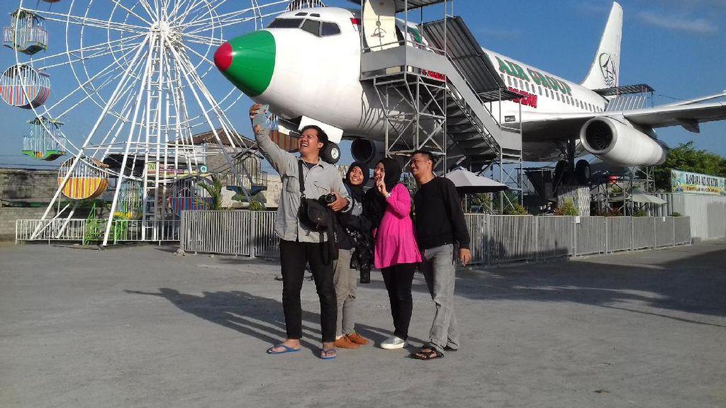 Foto: Pesawat Jadi Bioskop di Klaten