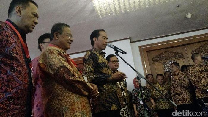 Foto: Jokowi di Hotel Grand Sahid Jaya (Danu Damarjati/detikcom)
