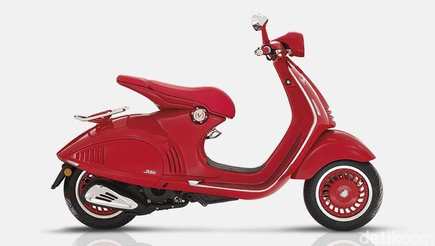 (VESPA 946)RED, a Vespa clad in shiny red,