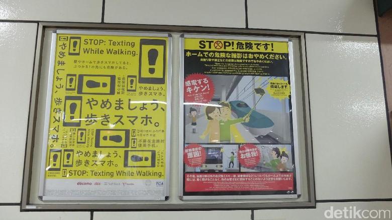 Larangan membawa tongsis di stasiun kereta Jepang (Baban/detikTravel)