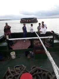 Bakamla Tangkap Kapal Tongkang Bermuatan Batubara Ilegal