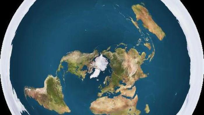 Penganut Bumi datar mengklaim planet ini dikelilingi oleh lapisan es di Antartika, dan mereka berniat membuktikannya. Foto: Internet