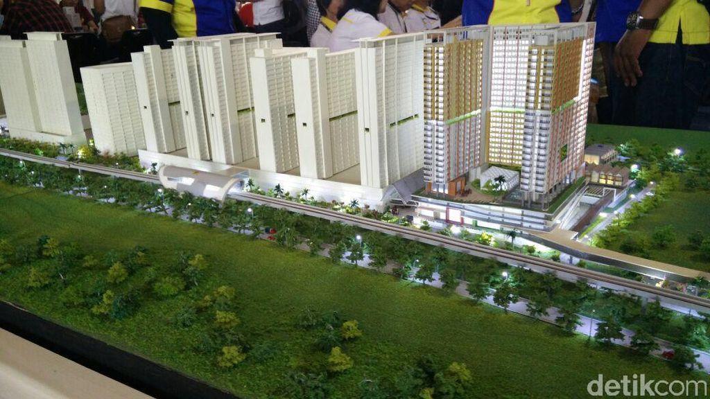 Rumah 'Nempel' Stasiun LRT Dijual Mulai Rp 260 Juta