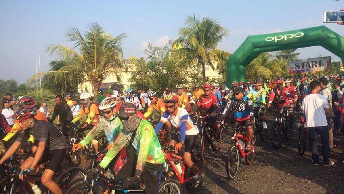 Gowes Pesona Nusantara Juga Sambangi Lampung Timur