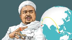 5 Kali Habib Rizieq Dikabarkan Akan Pulang ke RI tapi Belum Terwujud