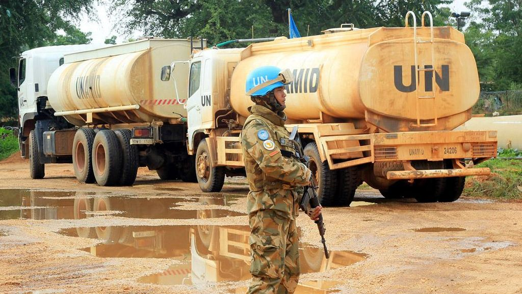 Pasukan Garuda Gelar Patroli Water Point di Sudan