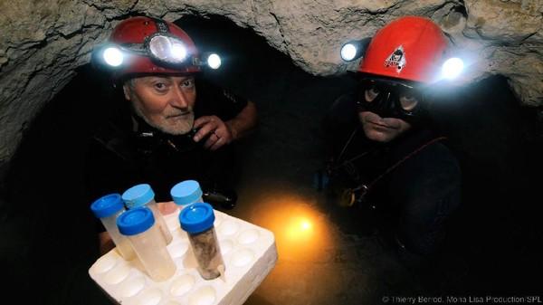 Makhluk ini didapat dari sampel penelitian para ilmuwan yang turun sampai ke kedalaman gua. Ilmuwan bernama Cristian Lascu dan Mikrobiologis Rich Boden lah yang mengeksplorasi Gua Movile ini (Thierry Berrod/Mona Lisa Production/SPL/BBC Earth)