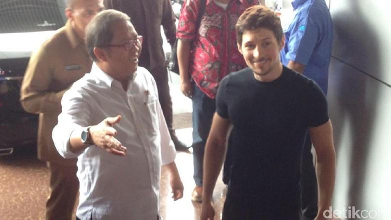 Menteri Rudiantara Makan Siang Bersama CEO Telegram