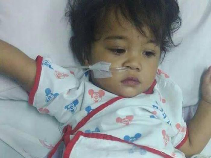 Rinanti sejak lahir alami jantung bocor. Foto: Facebook