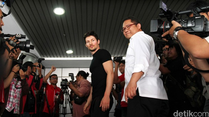 Pavel Durov dan Menkominfo. Foto: Ari Saputra