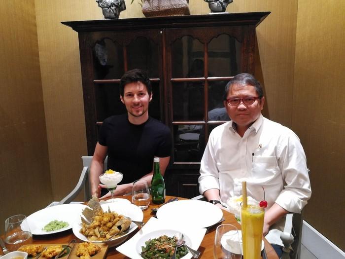 Pavel Durov dan Menkominfo Rudiantara (dok. Rudiantara)